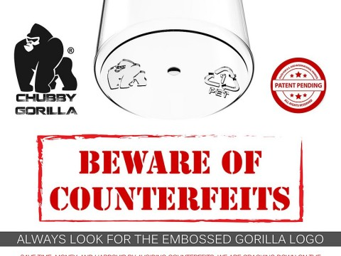Counterfeit Chubby Gorilla Bottles