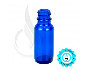 0.5oz Blue Boston Round Bottle 18-400