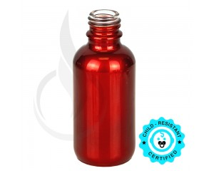 60ml Shiny Red Boston Round Hybrid Bottle 20-415