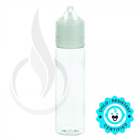 image for V3 - 60ML PET CHUBBY GORILLA CLEAR BOTTLE W/ CRC/TE CLEAR CAP