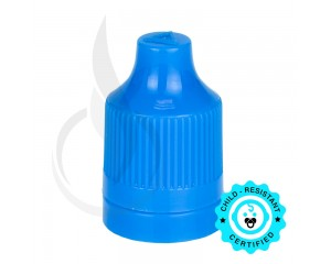 Blue CRC Tamper Evident Bottle Cap with Tip