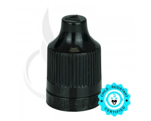 Black CRC Tamper Evident Bottle Cap with TIPS INCLUDED but SEPERATED