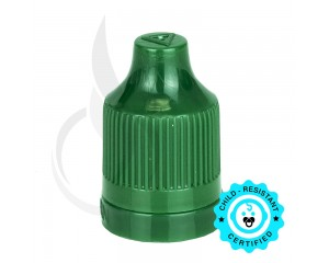 Dark Green CRC Tamper Evident Bottle Cap with Tip