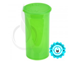 Phillips RX Pop Top Bottle - Green - 13 Dram