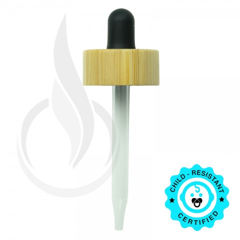 CRC Dropper - Bamboo - Black with Measurement Markings on Pipette - 76mm 20-400