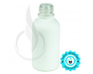 30ml Matte White Euro Round Glass 18-415