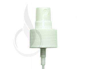 WHITE Fine Mist Sprayer Ribbed Skirt 24-410 177mm(1000/cs)