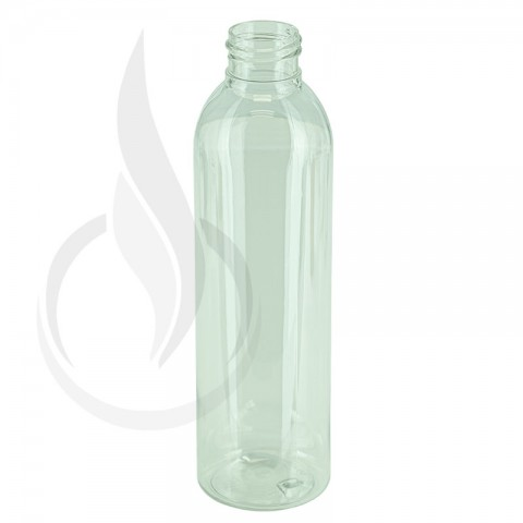 6oz Clear Cosmo Round PET Bottle 24-410(507/cs)