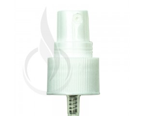 WHITE Fine Mist Sprayer Ribbed Skirt 20-410 127mm Dip Tube(2500/cs)