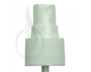 WHITE Fine Mist Sprayer Ribbed Skirt 24-410 108mm Dip Tube