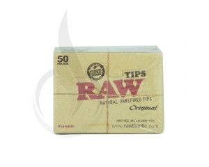 RAW 773 Unbleached Roll-Up Tips 50/Box