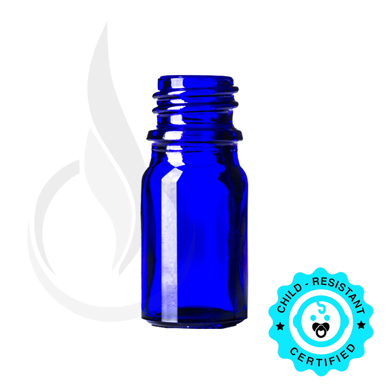 5ml Cobalt Blue Euro Bottle 18-415
