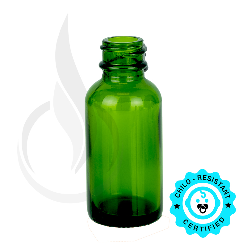 1oz Green Boston Round Bottle 20-400
