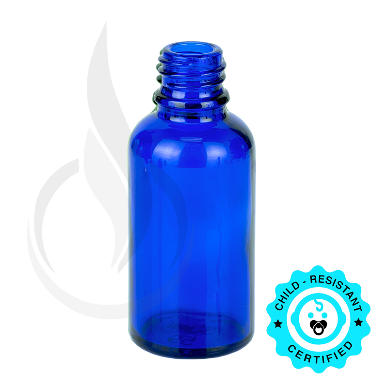 30ml Cobalt Blue Euro Round Bottle 18-415