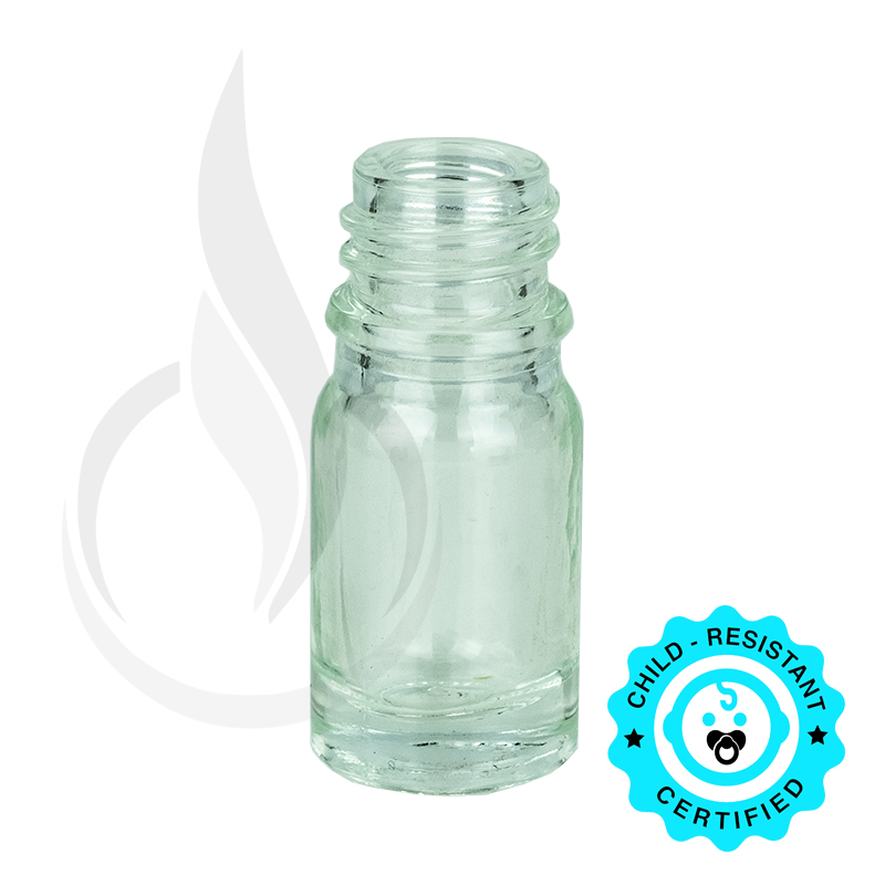 5ml Clear Euro Bottle 18-415