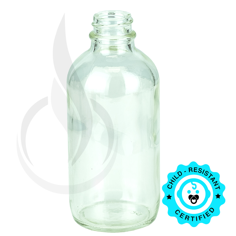 4oz Clear Boston Round Bottle 22-400