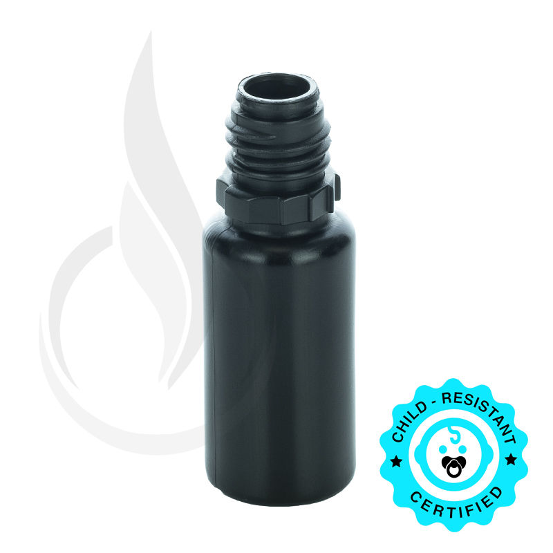 10 ML LDPE SOLID BLACK PLASTIC BOTTLE