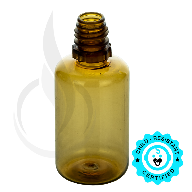 30 ML DARK AMBER PET PLASTIC BOTTLE