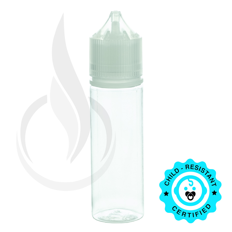 V3 - 50ML PET CHUBBY GORILLA BOTTLE W/ CRC/TE CLEAR CAP