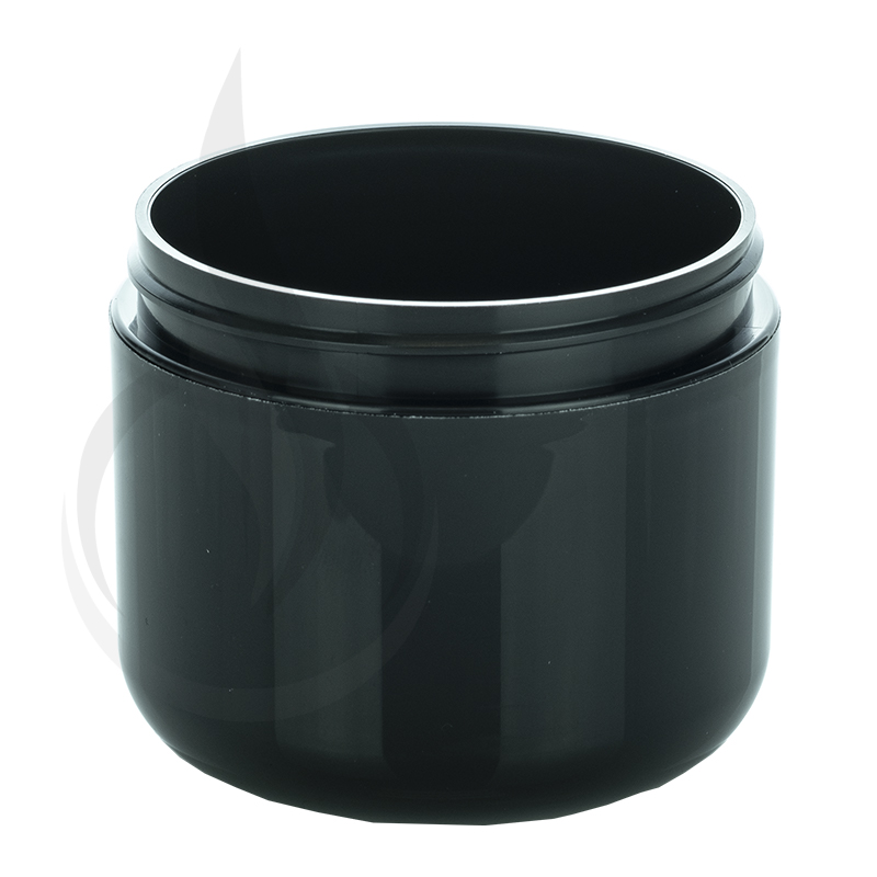 4oz Round Base Solid Black PP Double Wall Jar - 70-400