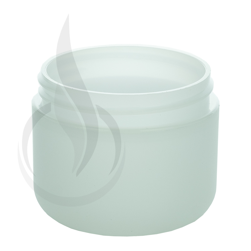 2oz Round Base Frosted PP/PS Double Wall Jar - 58-400