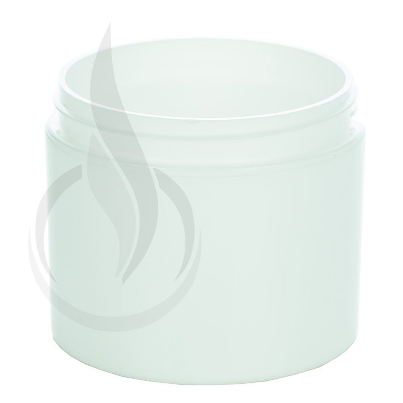 4oz Straight Base Solid White PP Double Wall Jar - 70-400