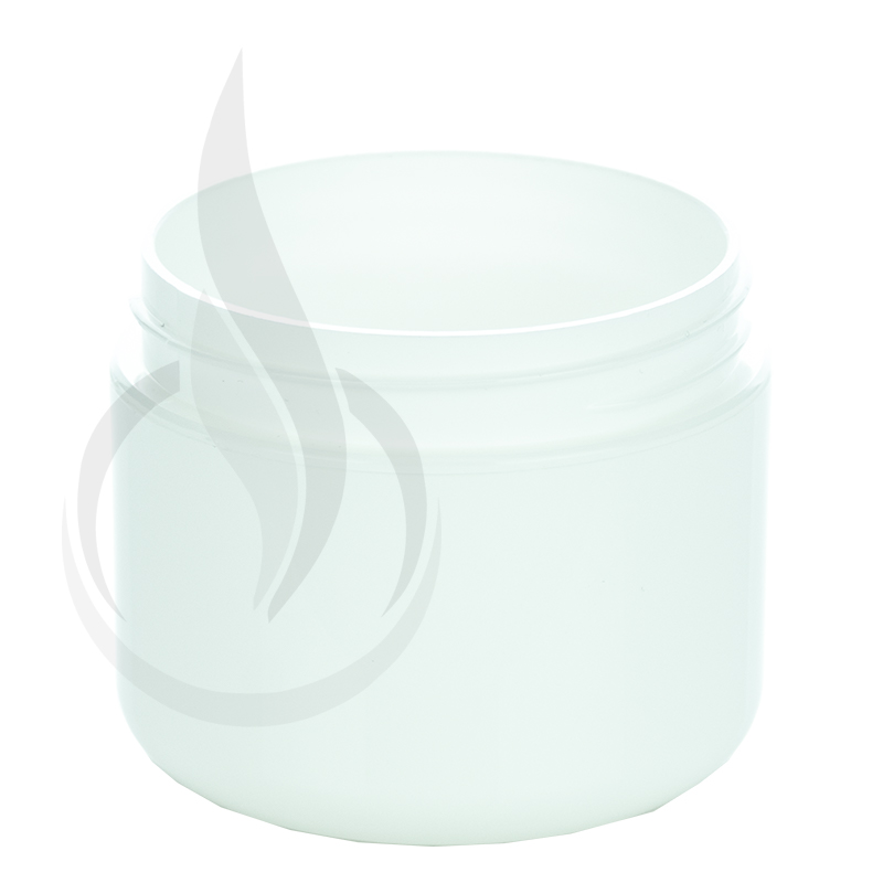 2oz Round Base Solid White PP Double Wall Jar - 58-400