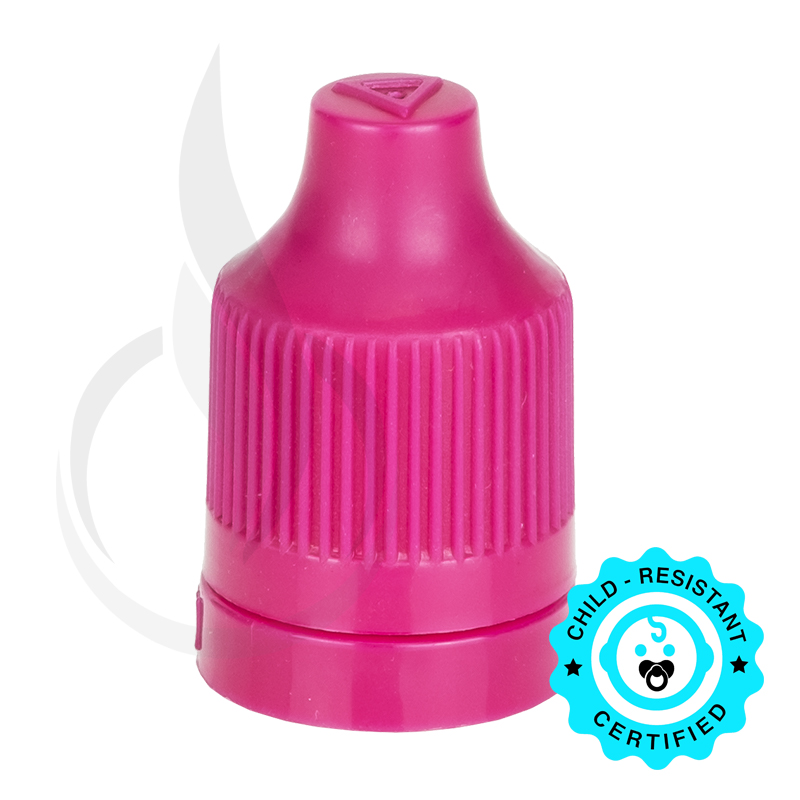 Magenta CRC Tamper Evident Bottle Cap with Tip