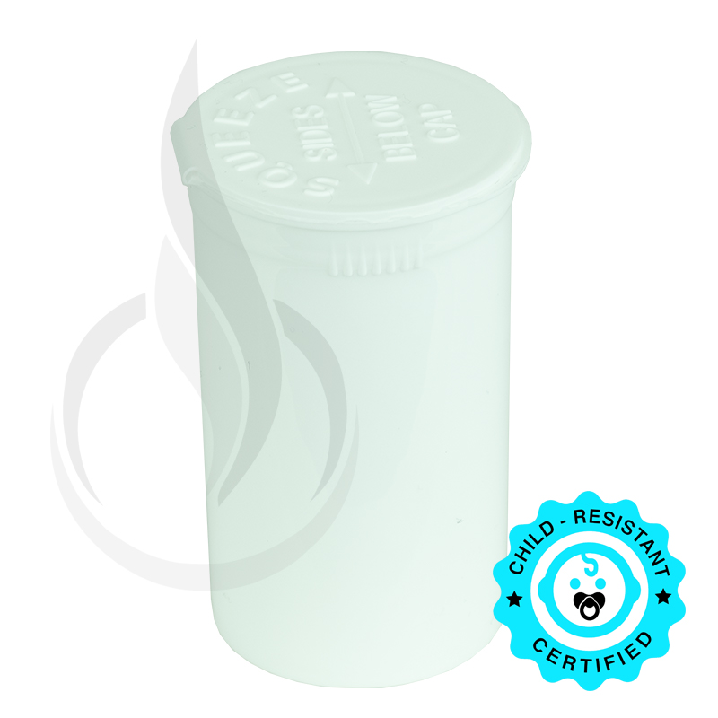 PHILIPS RX® Pop Top Bottle - White - 19 Dram