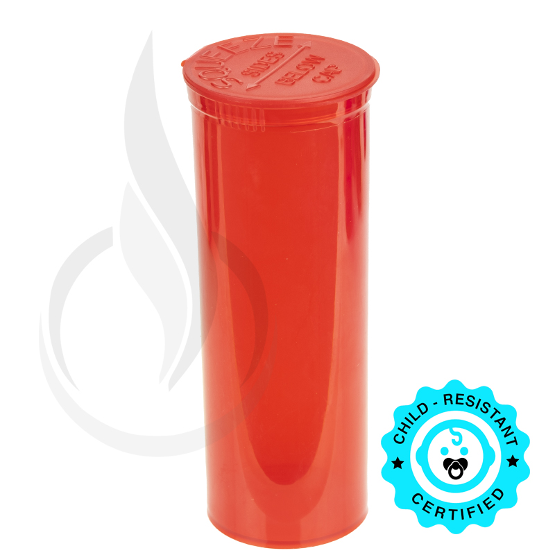 PHILIPS RX® Pop Top Bottle - Red - 60 Dram