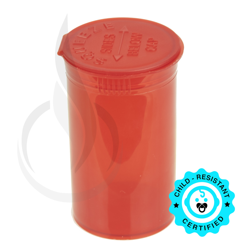 PHILIPS RX® Pop Top Bottle - Red - 19 Dram