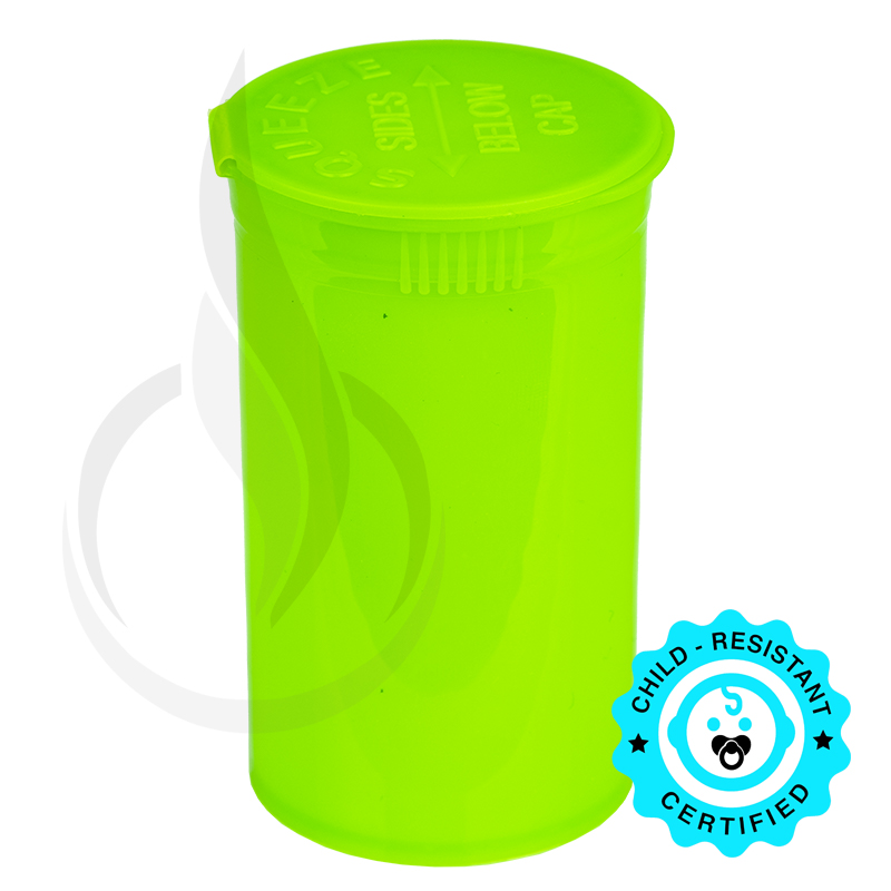 PHILIPS RX® Pop Top Bottle - Lime - 19 Dram