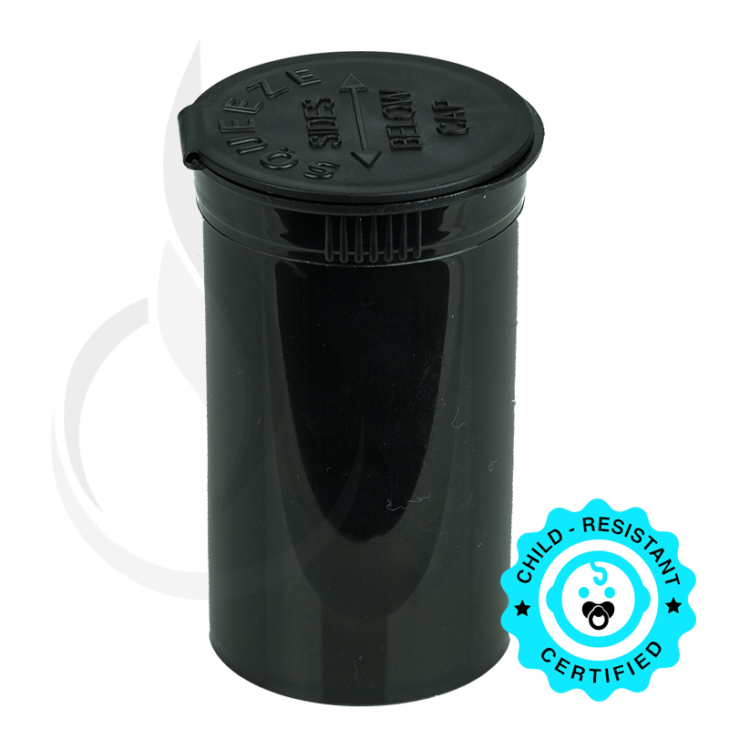PHILIPS RX® Pop Top Bottle - Black - 19 Dram