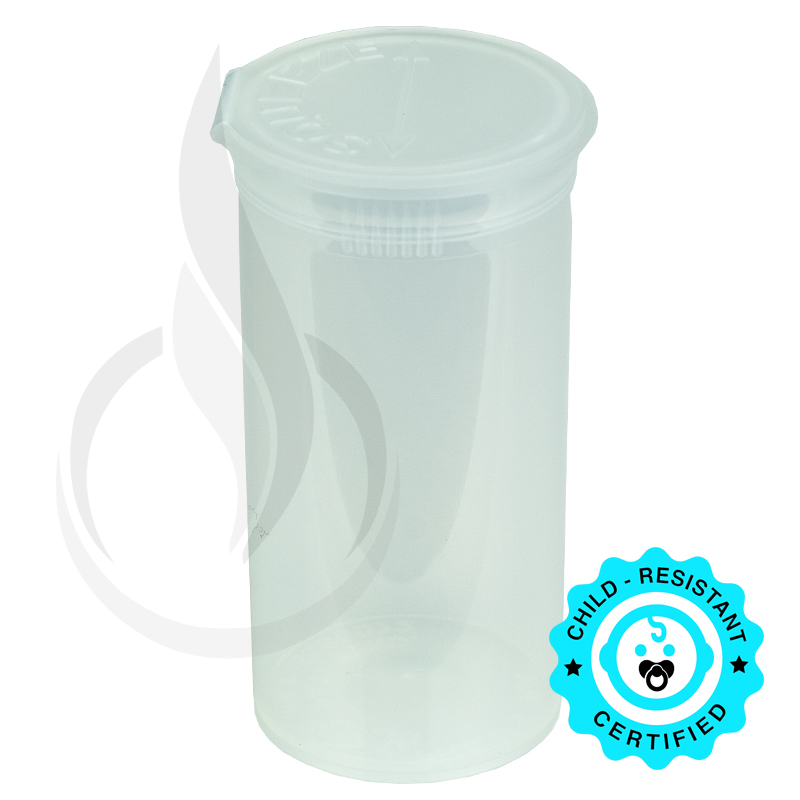 PHILIPS RX® Pop Top Bottle - Clear - 13 Dram