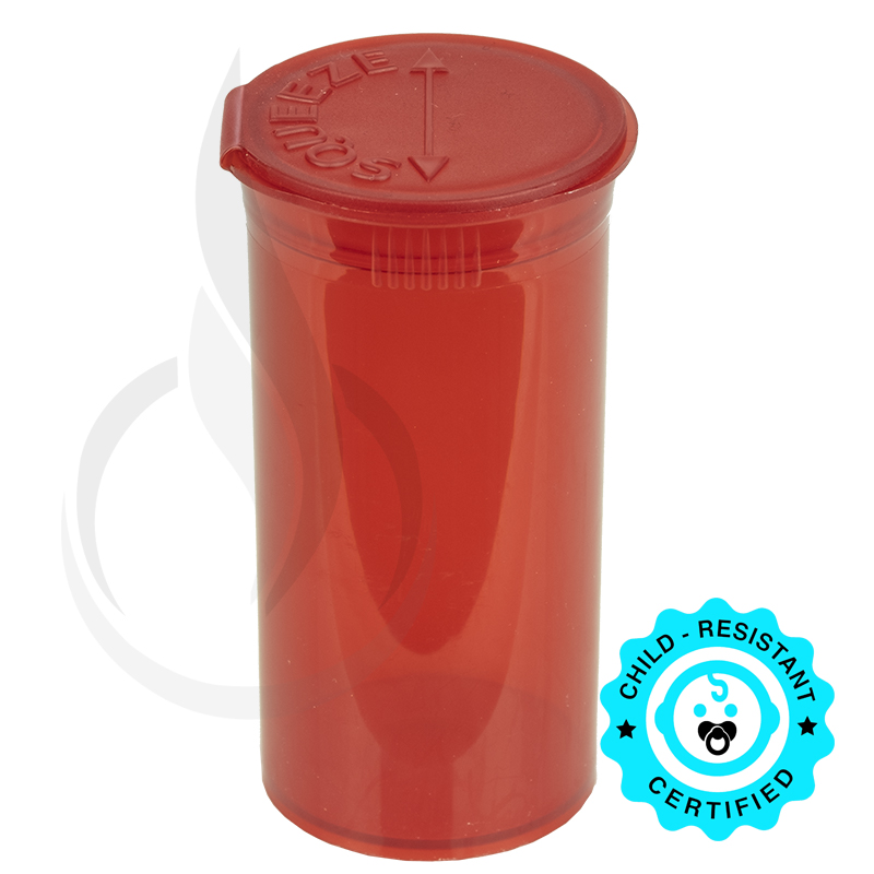 PHILIPS RX® Pop Top Bottle - Red - 13 Dram