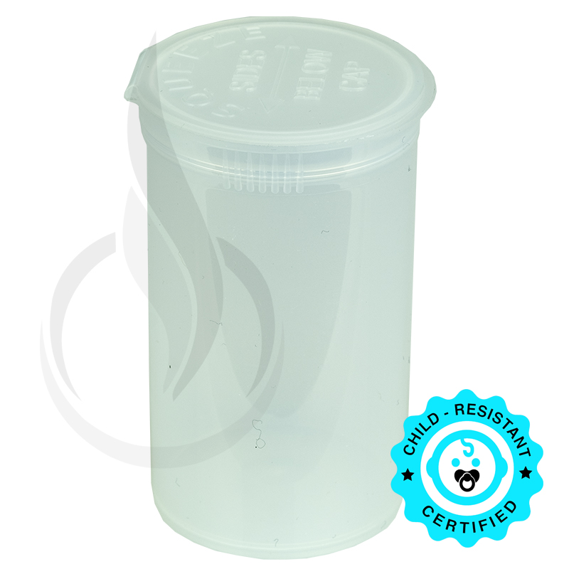 PHILIPS RX® Pop Top Bottle - Clear - 19 Dram