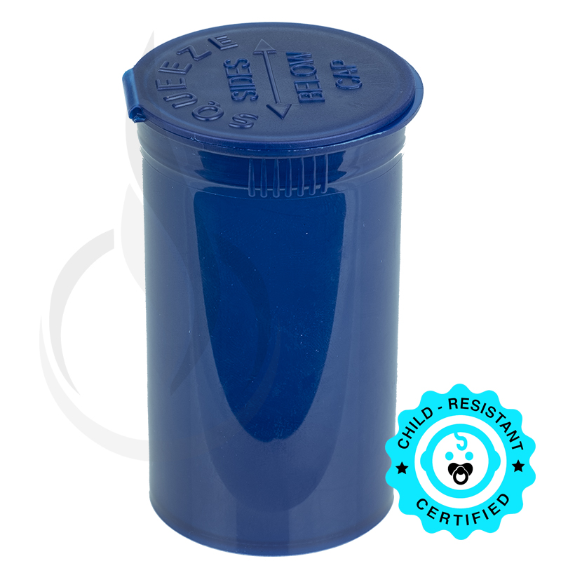 Phillips RX Pop Top Bottle - Blue - 19 Dram