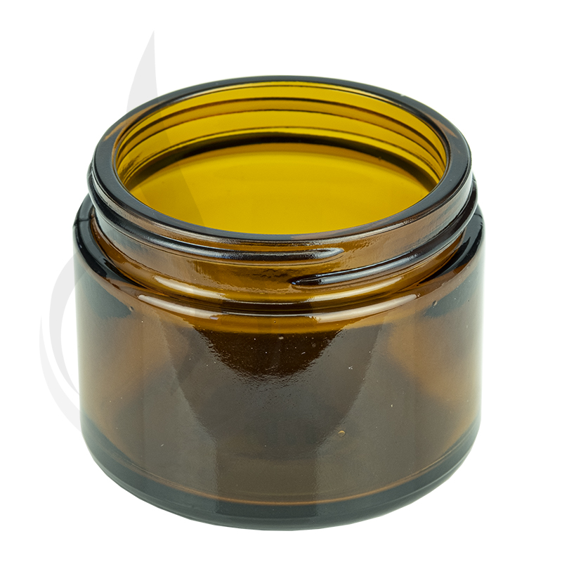 2oz Amber Glass SS Jar 53-400