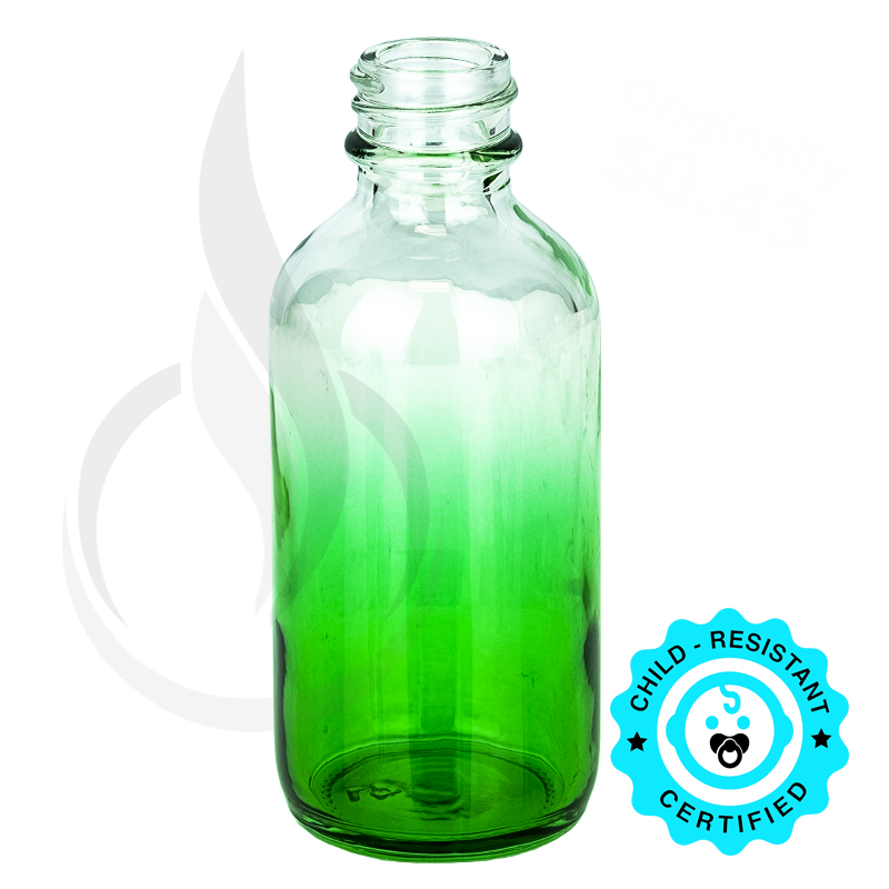 2oz Faded Green Glass Bottle 20-400