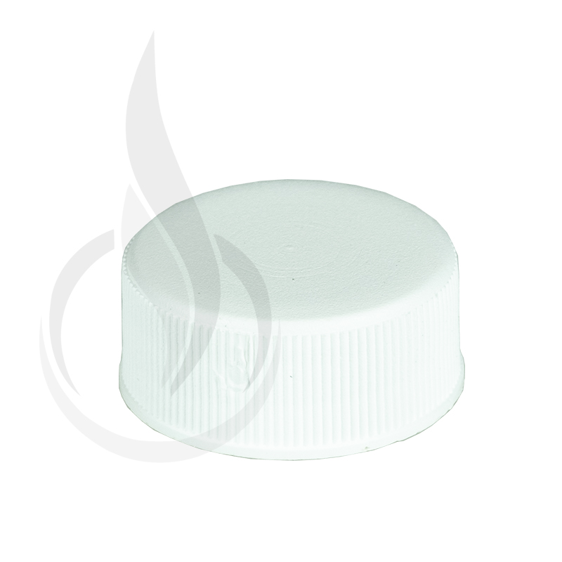 20-400 WHITE PP Non CRC Ribbed Skirt Lid with F217 Liner