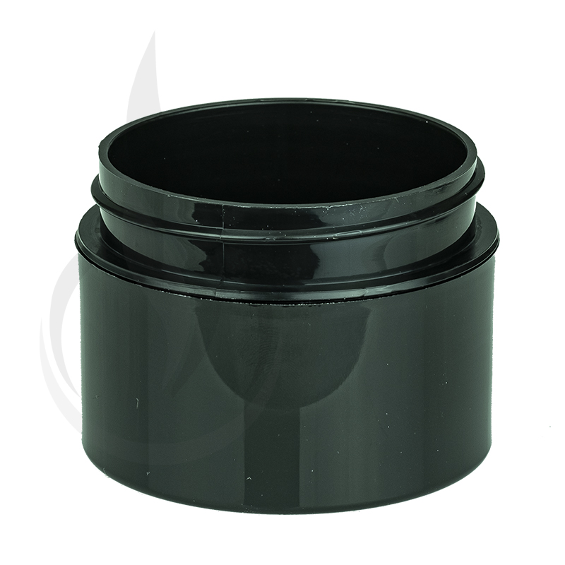 1oz Straight Base Solid Black PP Double Wall Jar - 53-400
