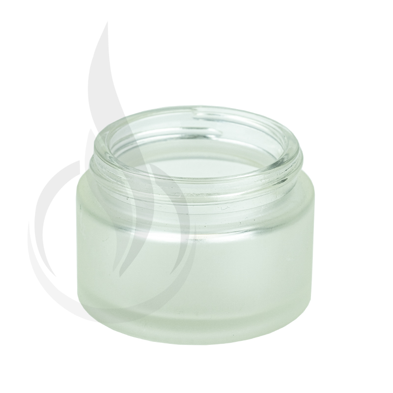 1oz Frosted Clear Glass SS Jar 48-400