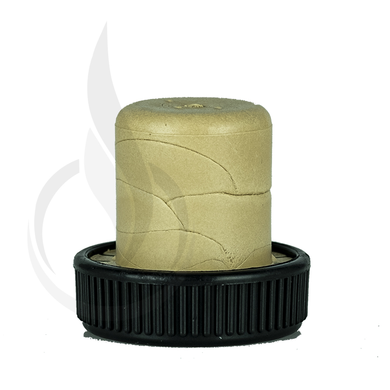 Black Disc/Beige Shank Synthetic Cork