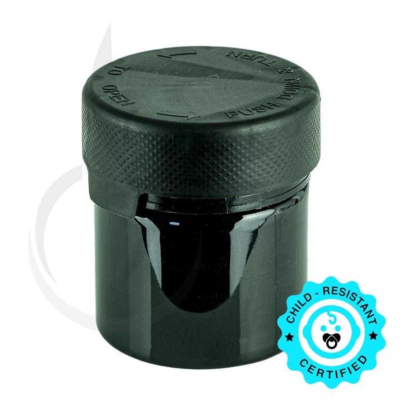2oz PET Aviator Series by Chubby Gorilla TE/CRC Solid Black w/Solid Black Cap(500/cs)