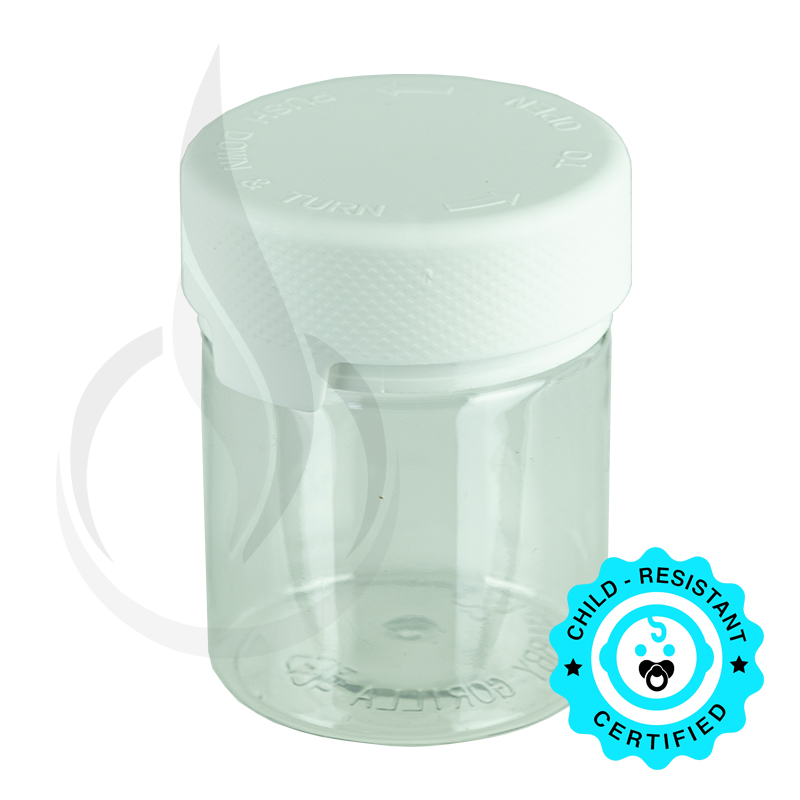 3oz PET Aviator Series by Chubby Gorilla TE/CRC Clear w/Solid White Cap(400/cs)