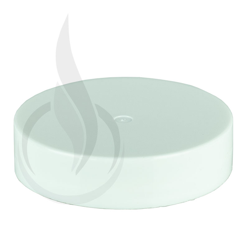 53-400 White PP Smooth Lid w/PS Liner Unprinted
