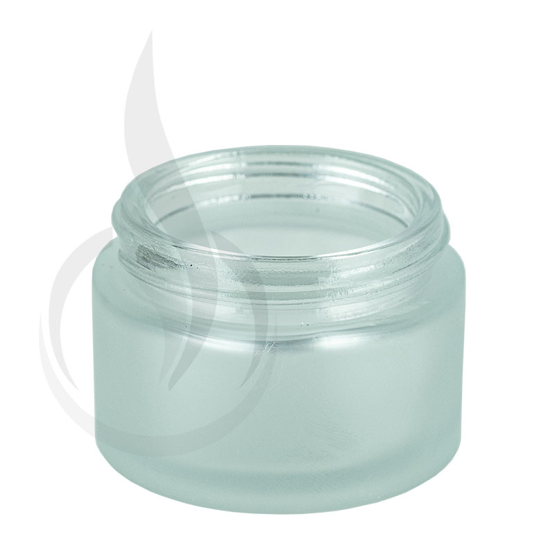 1oz Frosted Clear Glass SS Jar 48-400(180/cs)