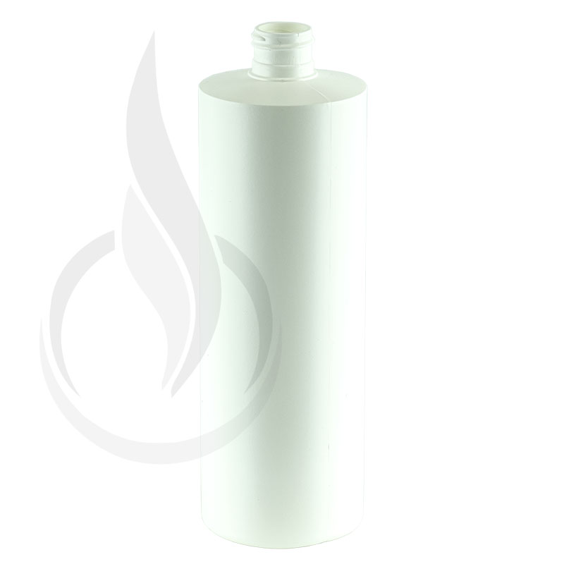 16oz White HDPE Plastic Cylinder Round Bottle 24-410(180/cs)