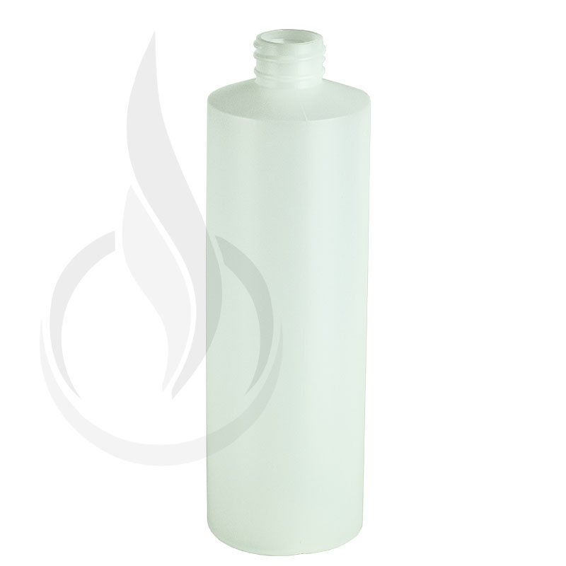 16oz Natural HDPE Plastic Cylinder Round Bottle 28-410(153/cs)