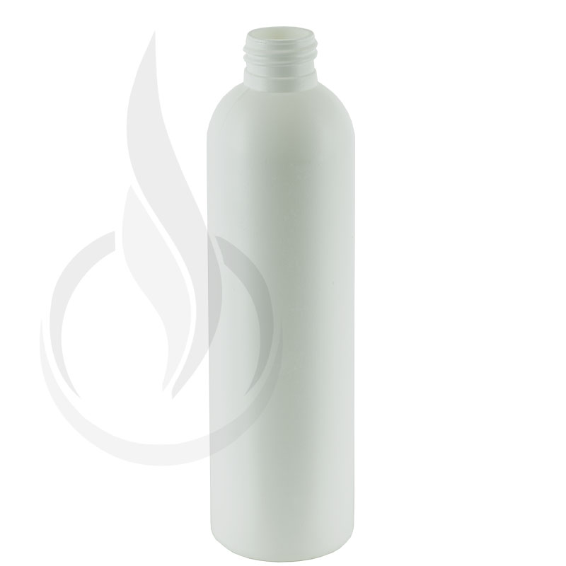 8oz HDPE White Cosmo/Bullet Bottle 24-410